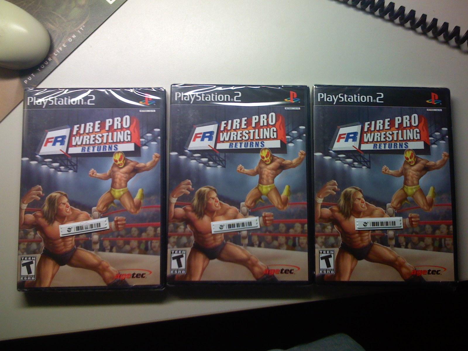 Three copies of Fire Pro Returns