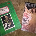 An SNL script and a vintage Playboy.