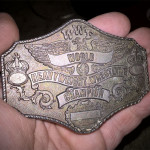 The 1985 WWF championship belt buckle.