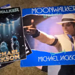 Michael Jackson stuff, on top is a Moonwalker storybook and calendar. Underneath iit's various magazines and posters.